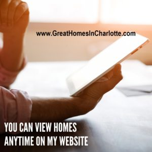 Search for homes anytime on greathomesincharlotte.com