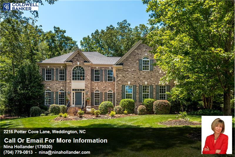 For Sale In Weddington: 2217 Potter Cove Lane