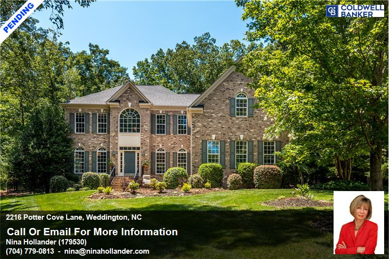 Weddington Home Under Contract In 3 Days: 2216 Potter Cove Lane