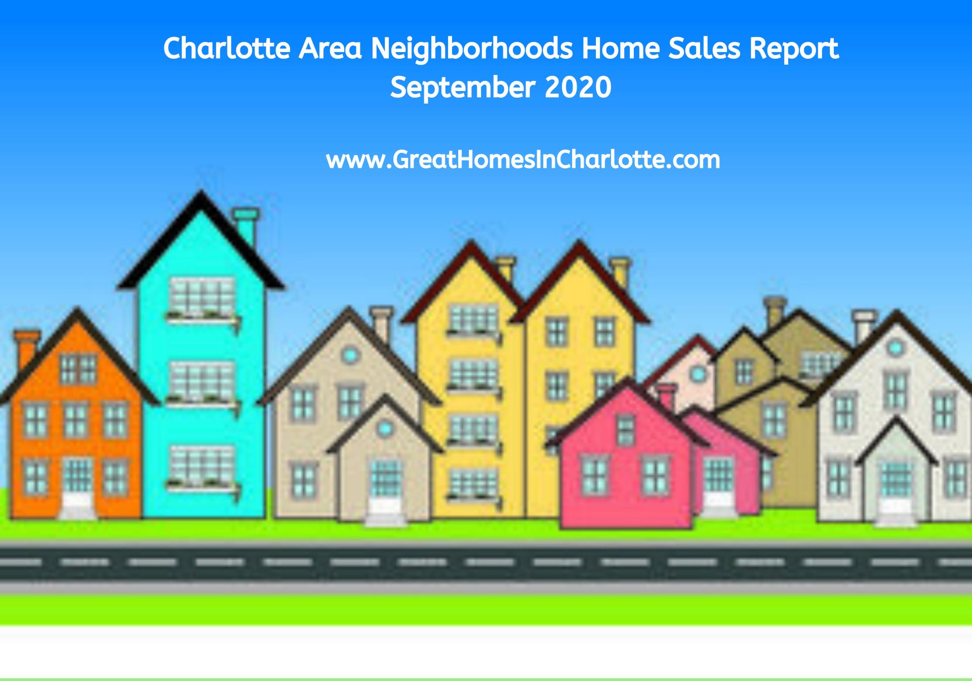 Hottest Selling Charlotte Area Neighborhoods: September 2020