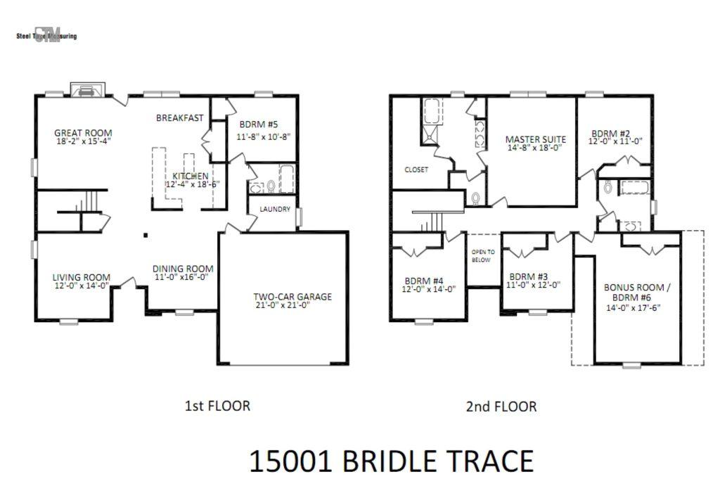 15001 Bridle Trace Lane Floor Plan