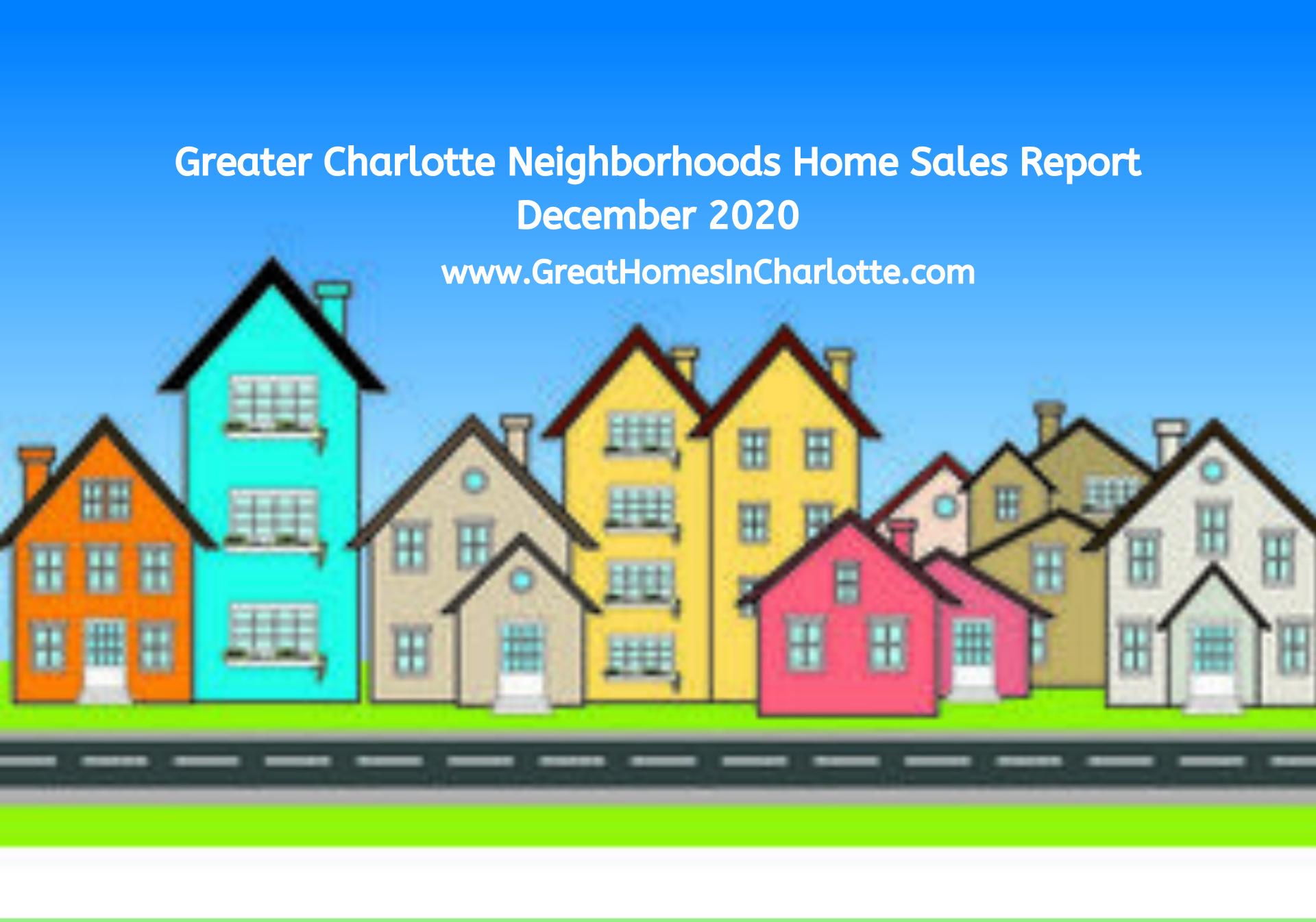 Top Selling Greater Charlotte Neighborhoods: December 2020