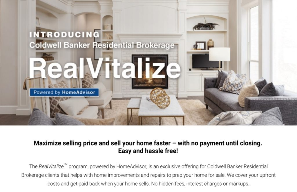RealVitalize Home Improvement Program By Coldwell Banker